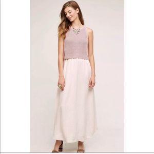 MOTH ANTHROPOLOGIE | Layered Sandstone Maxi Dress